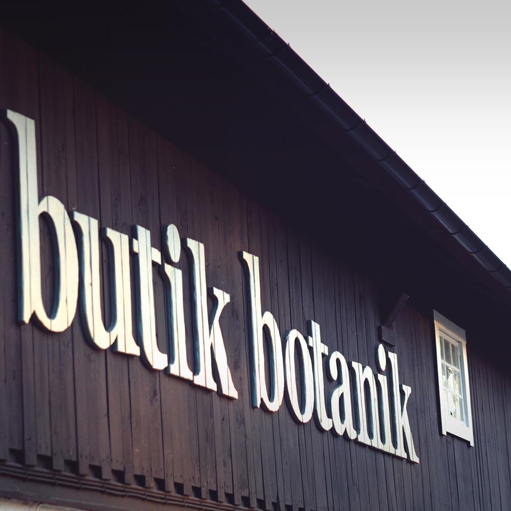 butik botanik – butiksskylt