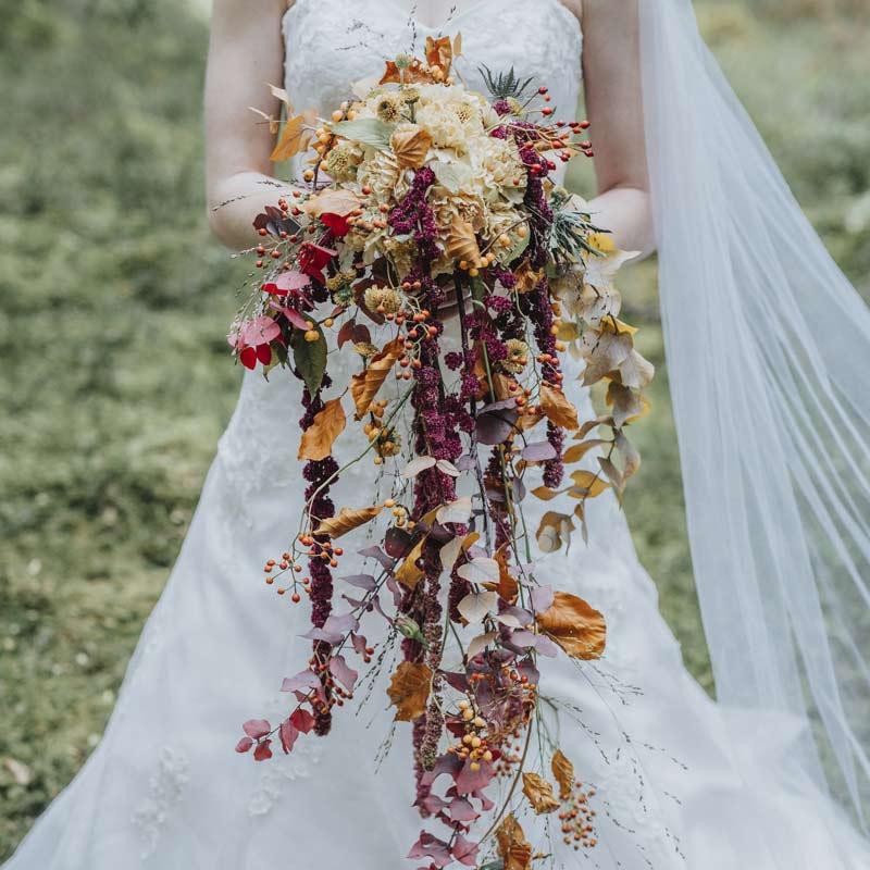 butik botanik – brudbukett, foto: Frida Walett